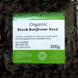 Black Sunflower Seed Organic 200g
