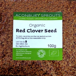 Red Clover Seed Organic 100g