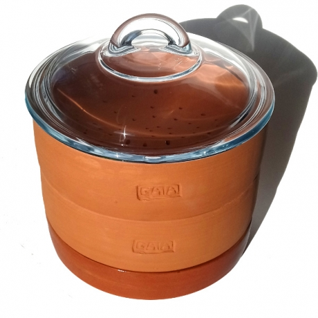 GAIA Sprouter® 17cm dia - Plain with glass lid
